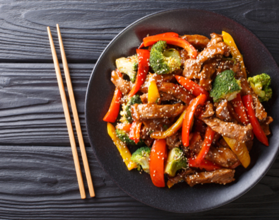 Venison Stir Fry with Japanese Sesame Sauce