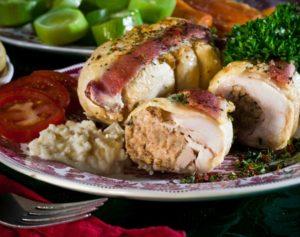 Chicken leg stuffed with Black Pudding & Haggis
