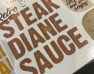 Retro Steak Diane Sauce